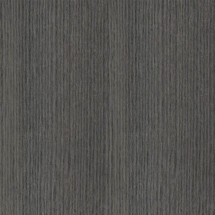 Char Oak - An allover dark grey coloured oak wood grain in straight grain with deep sand coloured undertones.