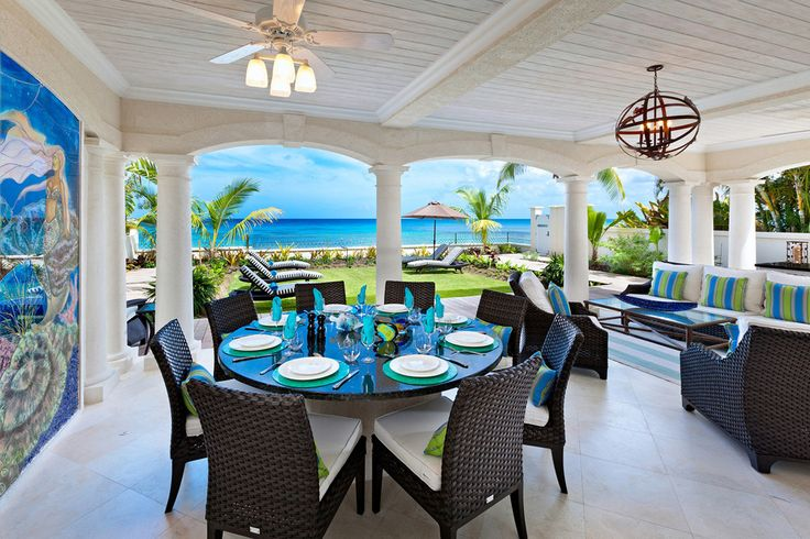 Still Fathoms, St James - Sleeps up to 10 . With a maritime feel, an oceanfront setting and a cool, contemporary style, this is a lovely villa, at the heart of Barbados's west coast resorts, and an innately cheerful choice for a family holiday.