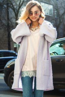 Кардиган короткий, с карманами, сиреневого цвета Fashion Confession
