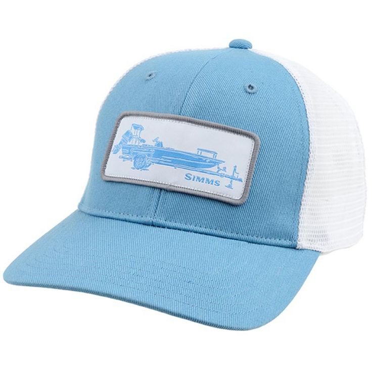 Simms high crown patch trucker hat fishwest fly for High hat fish