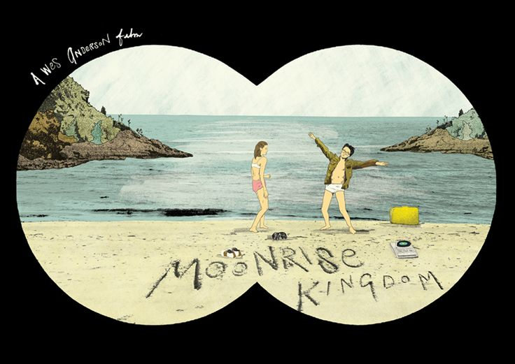 Moonrise Kingdom poster by Peter Strain