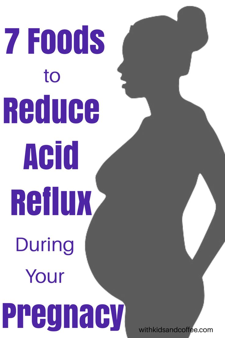7 Foods to Reduce Acid Reflux and Heartburn During Pregnancy | Acid reflux is a common pregnancy symptom, especially during the second and third trimesters. Eating certain foods can be a great alternative to taking tums for pregnant women when it comes to reducing acid reflux and heartburn.