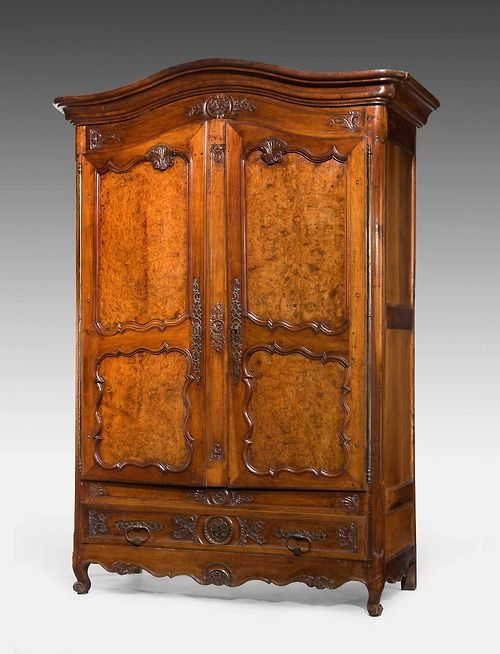 CENTURY CHESTNUT ARMOIRE Massive Century chestnut and burr chestnut  Armoire, very finely executed carved detail, some old evidence of woodworm  to the top ... - 332 Best The Joy Of Antiques. Images On Pinterest Windsor House
