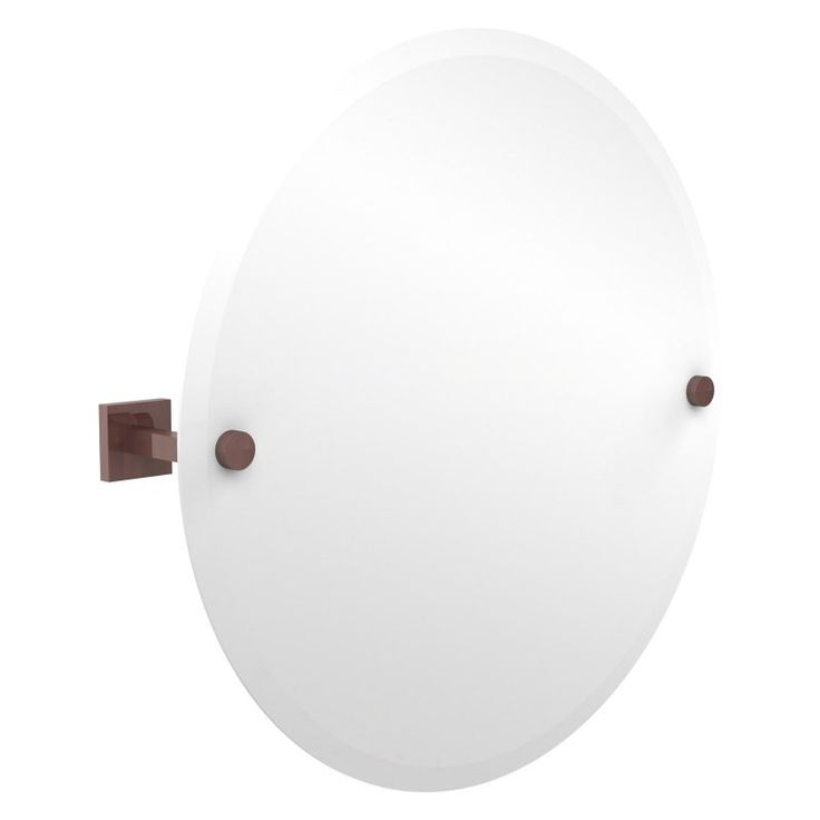 Allied Brass Montero Contemporary Frameless Round Tilt Beveled Wall Mirror - MT-90-CA