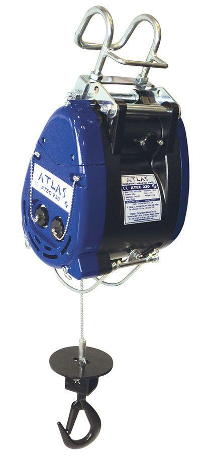 Atlas ATEC 230 model halatlı vinç (220V), 230 kg yük, 25 metre kaldırma kapasitelidir. #vinc #halat #atlas #electric #chainhoist #lifting  http://www.yukunuzuhafifletir.com/tr/urunler/kaldirma-ekipmanlari-caraskal-caraskal-vincler-vinc-zincirli-caraskal-zincirli-vinc/elektrikli-ceraskallar-vincler/elektrikli-halatli-vincler/230-kg-25-metre-mini-elektrikli-halatli-vinc-atec-230.html