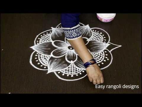 Margazhi kolam designs | Dhanurmasam muggulu | latest rangoli designs - YouTube