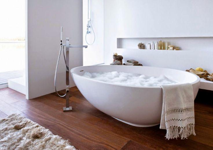 Bañera exenta integrada en habitación | DEF Deco - Decorar en familia