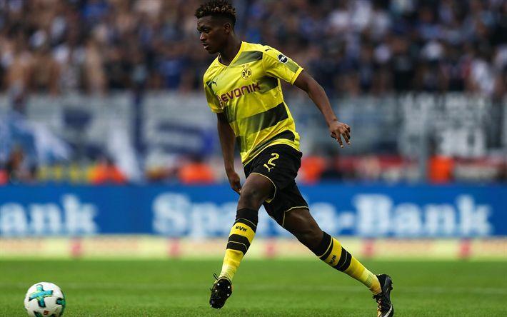 Download wallpapers Dan-Axel Zagadou, 4k, Borussia Dortmund, Bundesliga, BVB, football, soccer, Zagadou