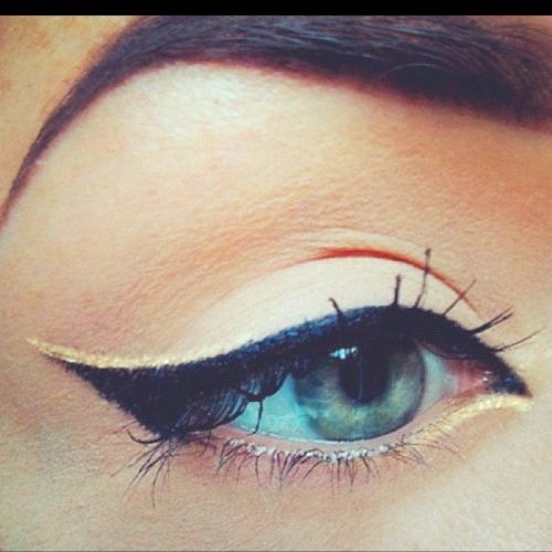 wing tip with gold liner on top
