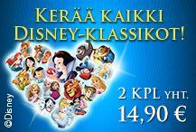 Kerää kaikki rakastetut Disney-Klassikot!  2 DVD:tä yht. vain 14,90€!