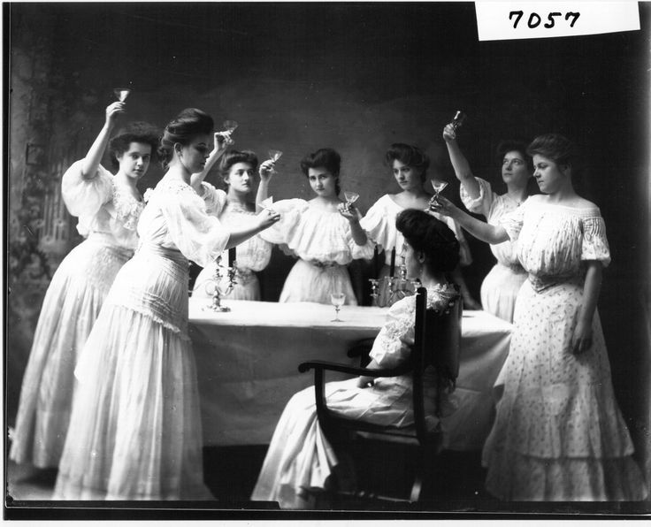 Toast to the bride, 1905.