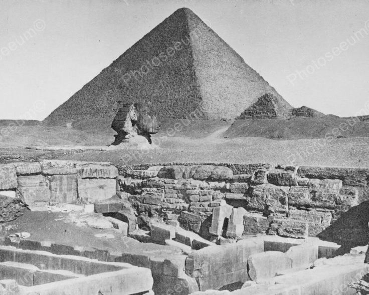 Ancient Egypt Pyramid & Sphinx Professional Photo Lab Reprint