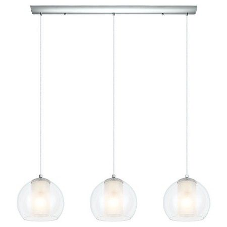 "Bolsano Multi Light Pendant Ceiling Light 39.75 "" Wide Chrome - Eglo : Target"