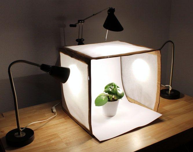 DIY Fotobox. Einfach Anleitung für perfekte Produktfotos. DIY Whitebox.