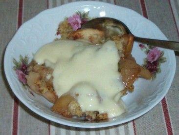 Kaura-omenapaistos (pakastetuista omenalohkoista)