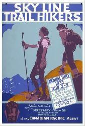 Canadian Pacific vintage print - Sky Line Trail