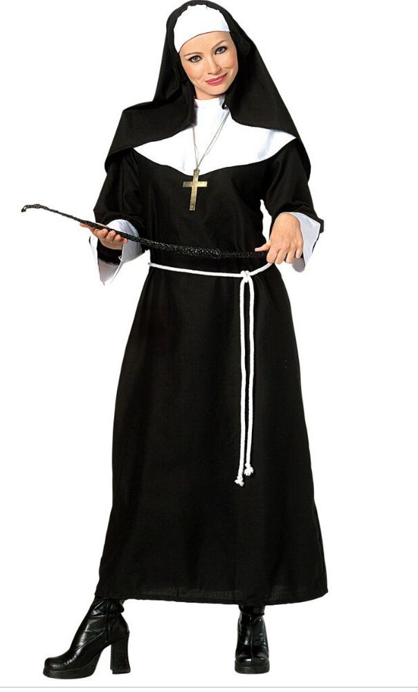 Religious Figure Vicars Nun Priest Pope Rabbi Adults Mens Fancy Dress Outfit