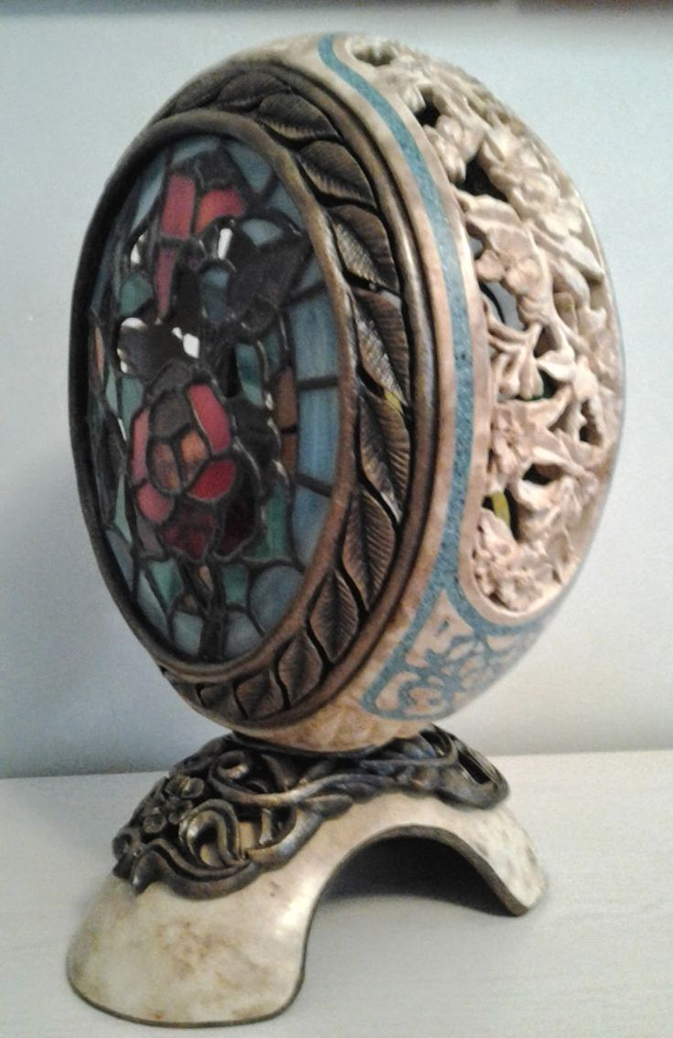 A VARIATION ON A THEME Many years ago, we did stained glass windows. With the recent interest in gourd lamps, Gary has decided to combi...