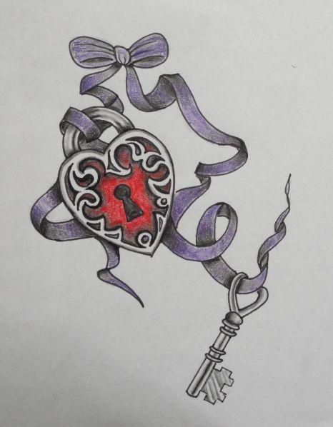 Lock & Key tattoo | Roxanne's Tattoo Designs