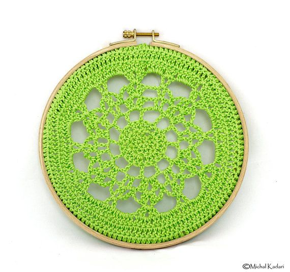 85 best crochet wall art images on pinterest crochet doilies doily art and embroidery hoops Crochet home decor pinterest