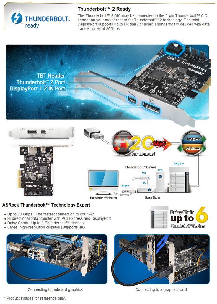 ASRock Thunderbolt 2 Controller Card [AR-THUNDERBOLT2] - $139.00 : PC Case Gear