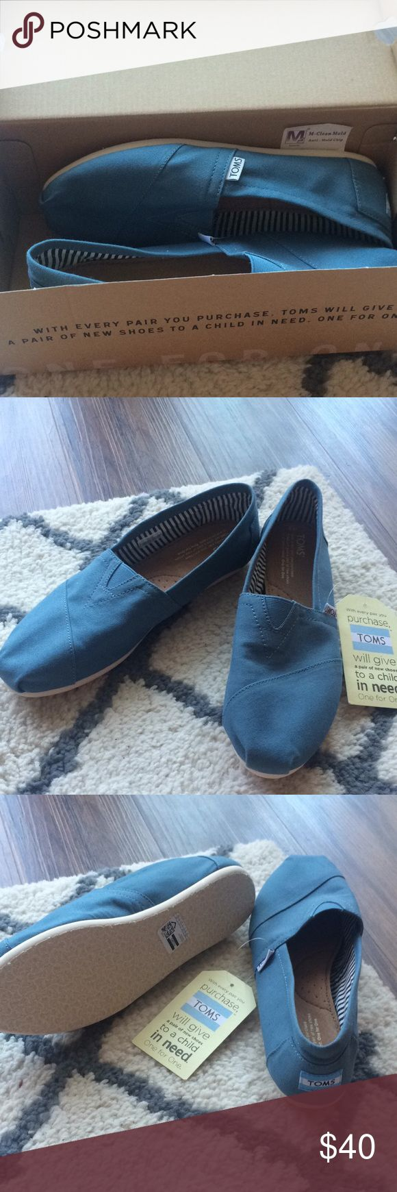 Brand new blue Toms women's size 9 Brand new! Received as a gift but not my color. Never worn! New with tags! TOMS Shoes