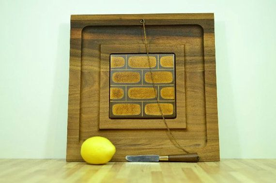 Vintage Georges Briard Cutting Board Midcentury by VintageRescuer