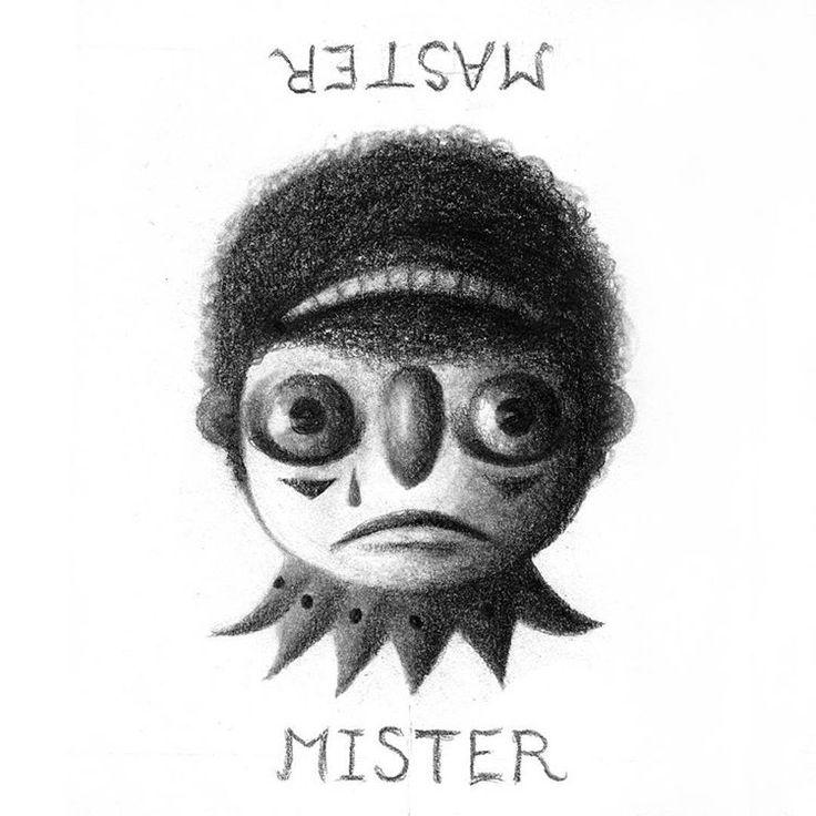 Mister #mister #man #sad #existence #ambigram #illustration #drawing #clown #jester #funny #sketchbook #blackandwhite #pencil #graphite #design #status #middleclass #struggle #dark #shadow