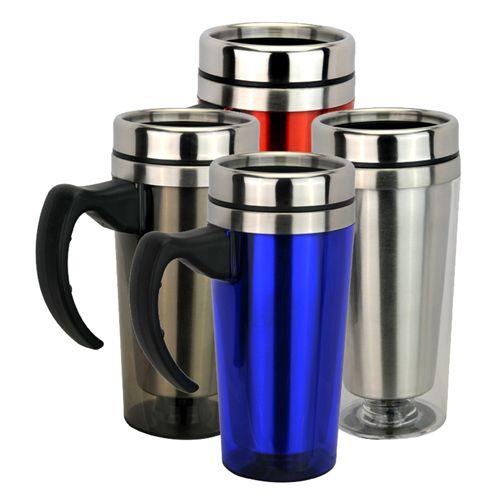 124 best promotional mugs glassware images on pinterest - Travel mug stainless steel interior ...