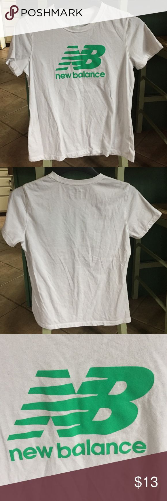 White & Green New Balance T-shirt New Balance brand. Size medium. White & Green. Short sleeve. NO issues, NO stains, NO marks. NEVER worn. New Balance Tops Tees - Short Sleeve