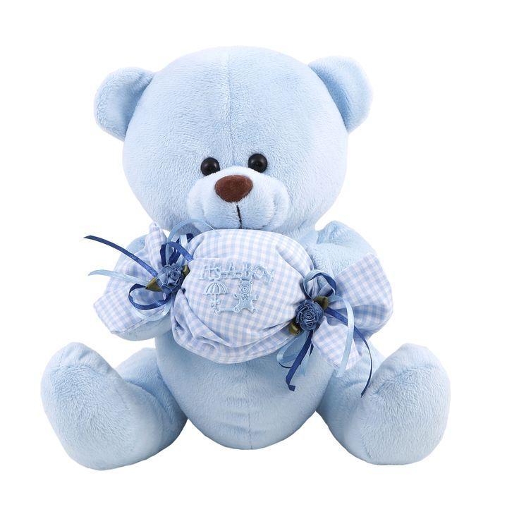#teddy_bear #soft #blue #baby #romantic