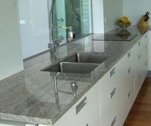Grey Granite Kitchen Countertops top white kitchen cabinets with granite countertops (looks like