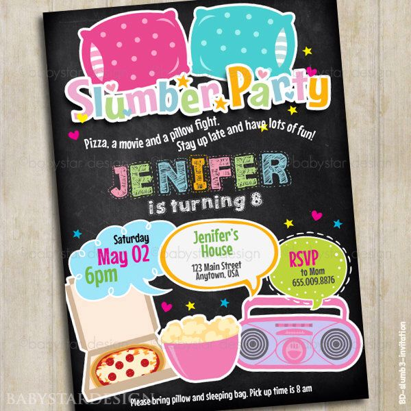 16 best Almost Sleepover Party images – Almost Sleepover Party Invitations