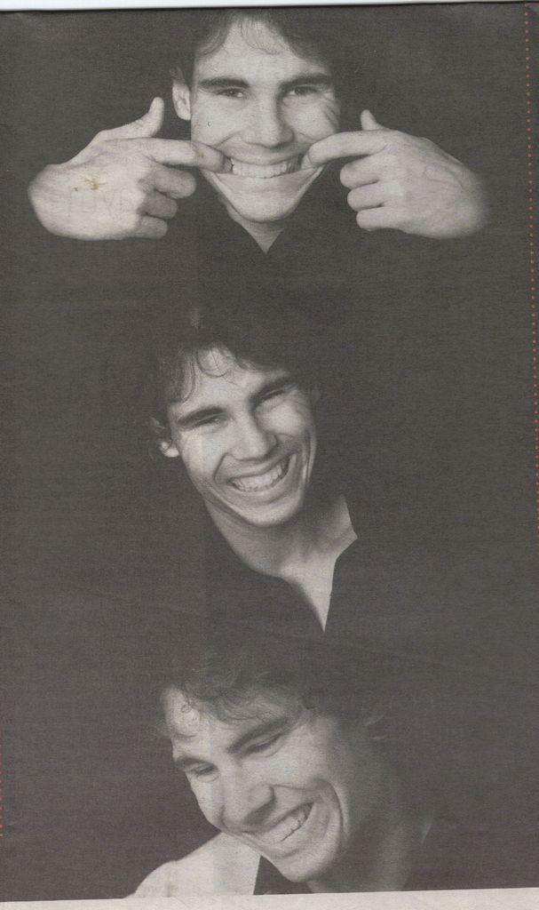 LOVE these fun photos of Rafa just cutting it up. :) Rafael Nadal #nadal #rafa #kingofclay