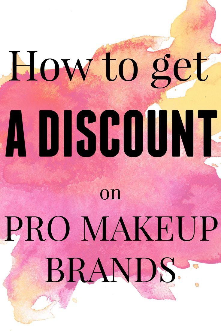 How to get a makeup discount on your favorite pro brands