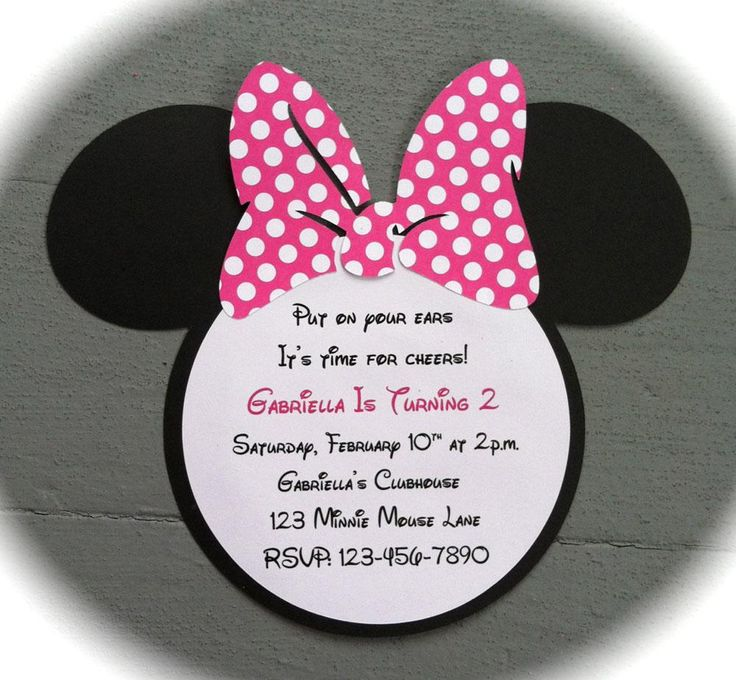 Best Minnie Mouse Birthday Invitations Ideas On Pinterest - Minnie mouse birthday invitation message