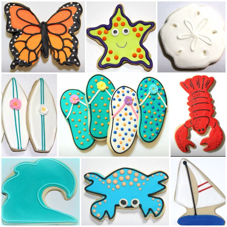 Summer favorite cookie designs