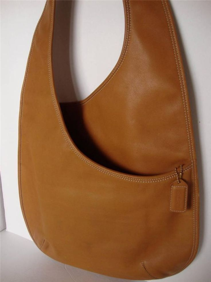 RARE~COACH~RETEO~BONNIE CASHIN~LEATHER~TAN~PURSE~SHOULDER BAG~9074