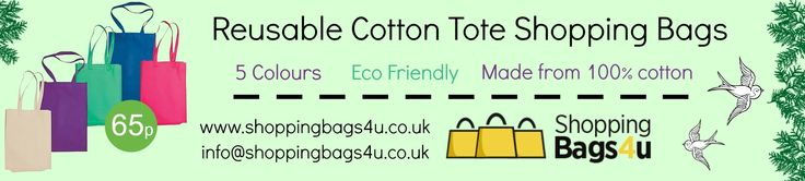 Made from 100% natural cotton these soft cotton bags are not only eco friendly but also very practical. Reusable bag with soft loop handles.
