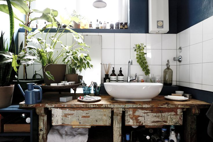 Vintage trifft auf Moderne im Badezimmer #Wellness #Wohnen
