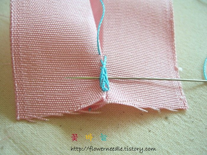 Decorative edge stitch for thimbles, socks etc