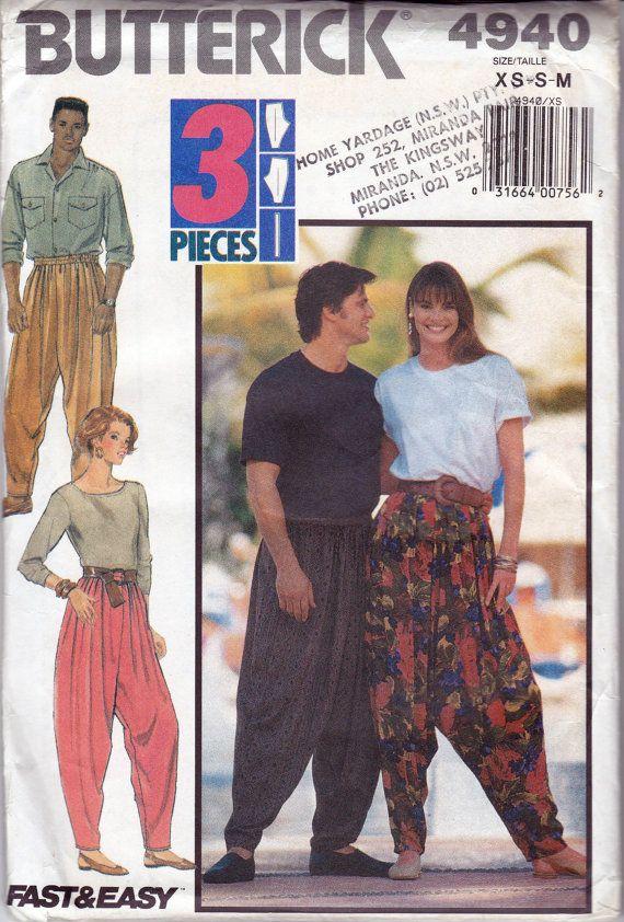 90s MC Hammer Pants Harem Pants Yoga Pants by allthepreciousthings