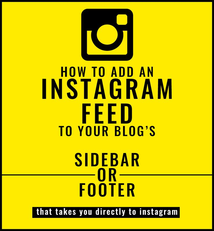 How To Add Instagram Feed Widget To Your Blog That Takes You Straight to Instagram (rather than some other site like snapwidget)