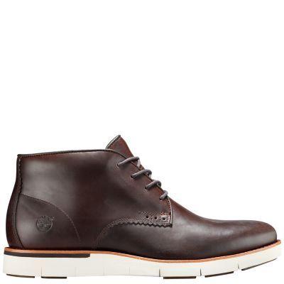 Timberland Men's Preston Hills Waterproof Chukka Shoes (Dark Brown Full-Grain)