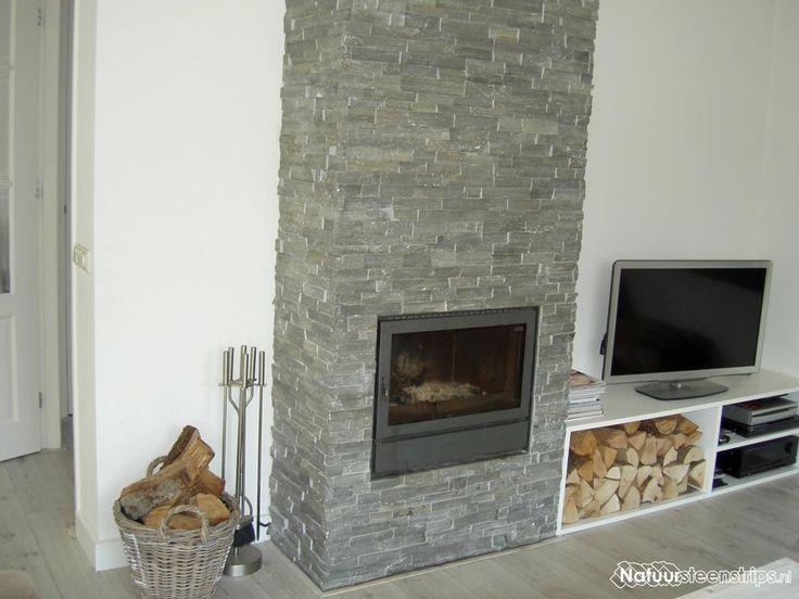 25 beste idee n over openhaard accentmuren op pinterest keuken accentmuren planken muren en - Kleur grijze leisteen ...