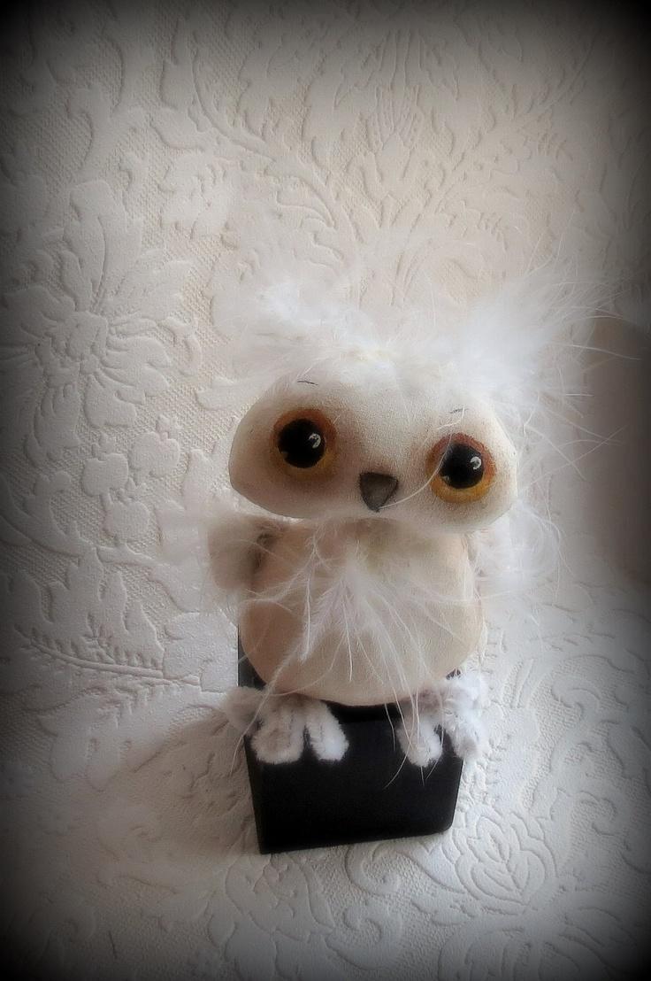 Little owl cloth doll