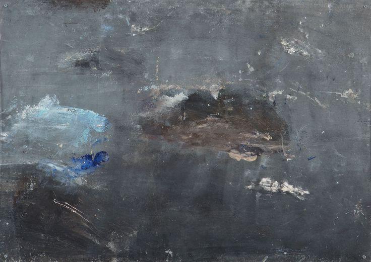 Grey Landscape 1 64x90cm Acrylic pigments on methacrylate Base: white canvas
