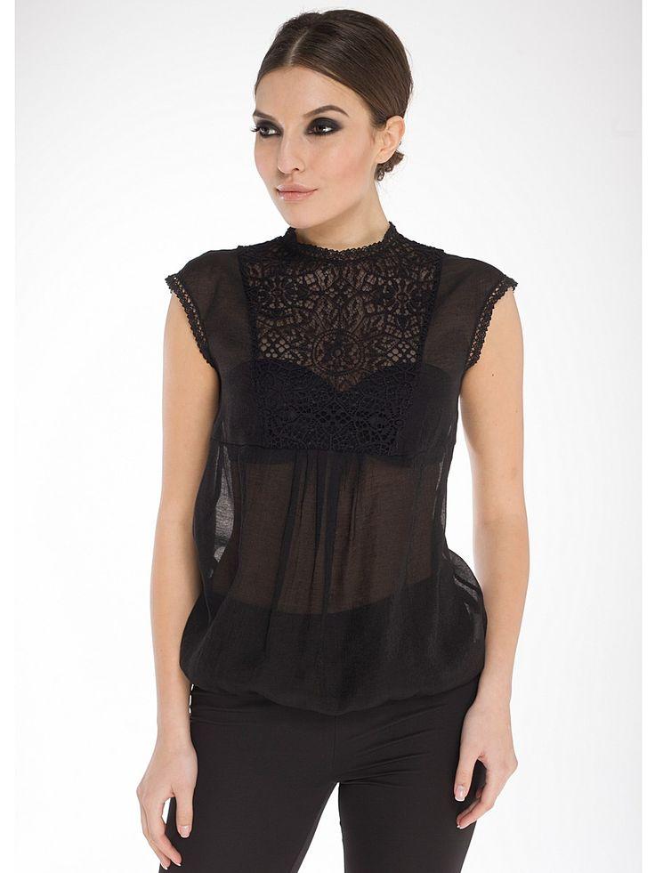 Блузка Arefeva. Цвет черный.