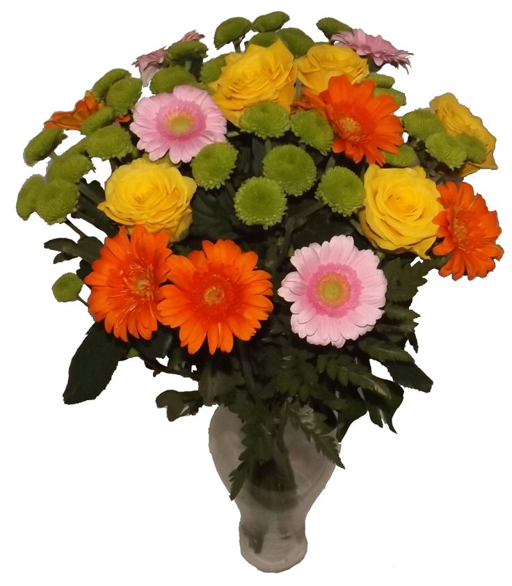 Buchet mixt de flori in culori exuberante