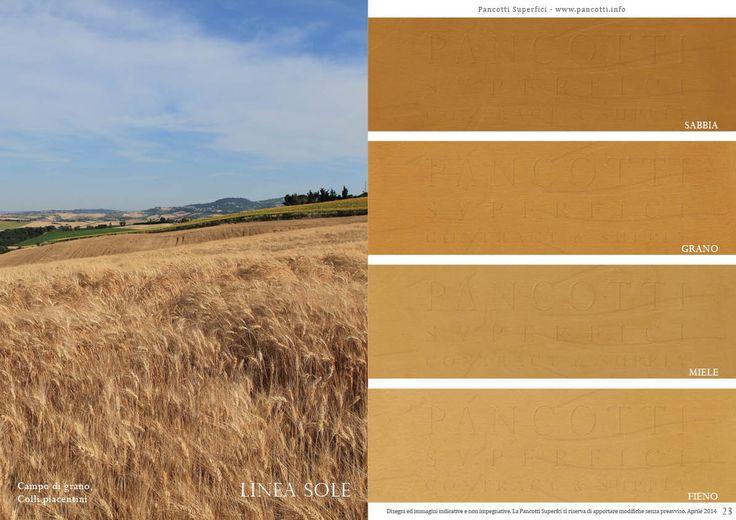 Linea Sole | #giallo | #sabbia #grano #miele #fieno